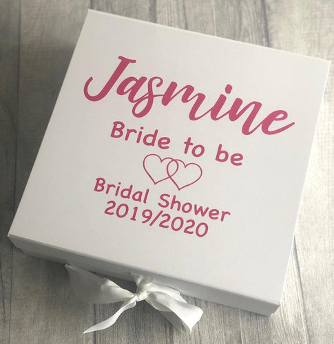 Personalised Bride to be / Hen party wedding keepsake box