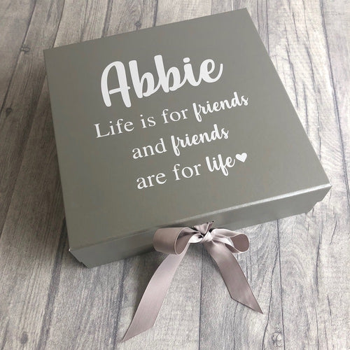 a thoughtful friendship gift box for keepsakes and memories. A lovely personalised storage box for someone special