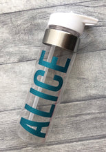 Personalised bold name drinks water bottle, gym, work or school bottle