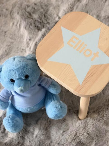 Personalised Star Name Girl or Boy Birthday/Christening/newborn gift wooden nursery stool