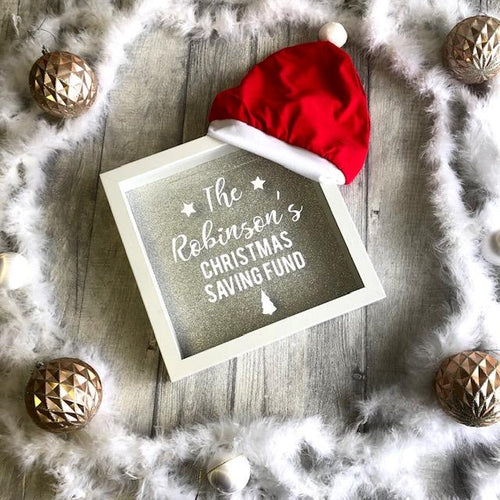 Christmas Family Personalised Savings Fund Money Box. High quality clothing at affordable prices, great prices for Christmas outfits, follow us on Instagram.