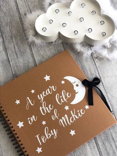 A Year in the life of... Personalised Baby Memories Scrapbook Gift. High quality clothing at affordable prices, great prices for Christmas outfits, follow us on Instagram.