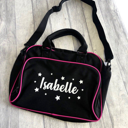 Personalised Shoulder Strap Dance Bag with Stars