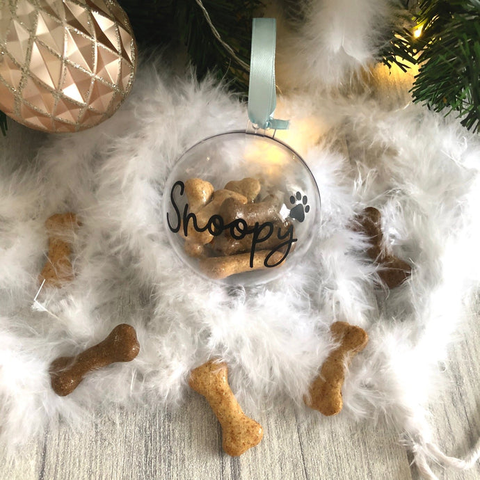 Personalised Dog / Cat Christmas Tree Bauble with Paw Print