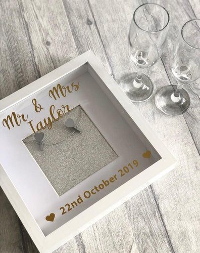 Mr & Mrs Personalised Wedding Gift Photo Box Frame