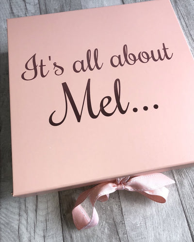 Personalised It's all about...... Birthday Rose Gold Keepsake Gift Box