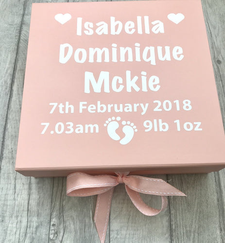 Personalised Baby Girl/Boy Memory Keepsake Christening gift box