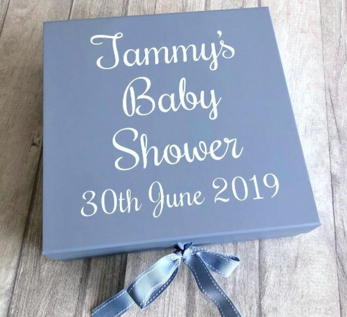 Personalised Baby Shower Gift Keepsake Box
