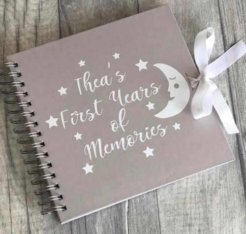 A gorgeous gift idea for a little ones first birthday. Also good as a photo album book for your memories or memories for your loved ones, whether that be wedding pictures, baby girl and baby boy images, or images of your life