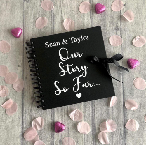 Our story so far...Personalised Valentines / Anniversary Memories Scrapbook