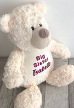 A gorgeous personalised soft toy which makes a perfect gift for a new big sister. super cuddly teddies for your baby girl that they will absolutely love