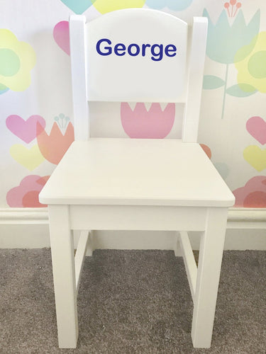 A gorgeous, expensive looking chair that will fit any classy bedroom interior. A modern style with beautiful pristine colours for your little one. Can be personalised for a boy or a girl. can be used as a dining chair or in a nursery.