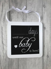 Baby arrival day countdown chalkboard plaque. Baby arrival day countdown chalkboard plaque. Perfect for any style of house, it fits any interior whether that be older or modern. A perfect asset to the look of your home
