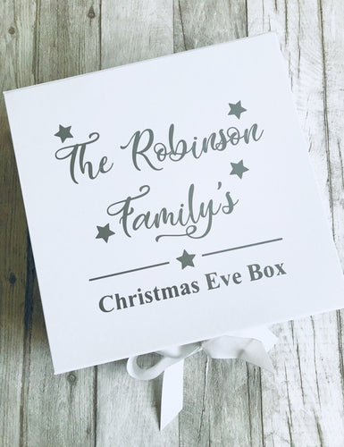 Personalised Family White Christmas Eve Box Keepsake Gift