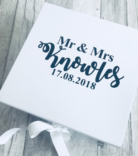 Personalised Mr and Mrs Wedding Day memory/keepsake box
