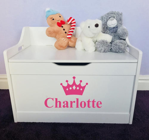 The perfect unique gift for your little ones nursery. Or a gift to be given to a friend. A beautiful personalised wooden toy box that makes a fabulous fitting present for everybody's home. Our personalised children's furniture is of the highest quality you could possibly find. We make sure it is unique, special, spacious and fits any style of interior to go with your house.