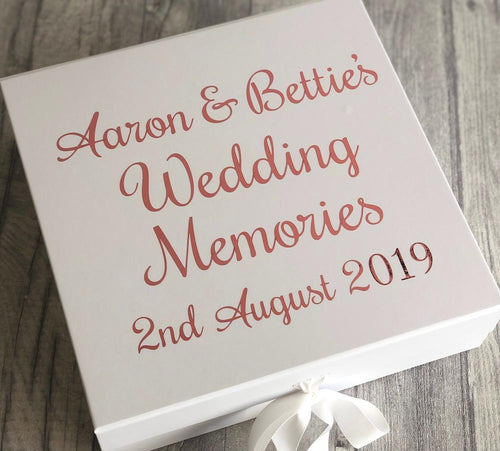 Personalised Wedding memory/keepsake wedding gift box