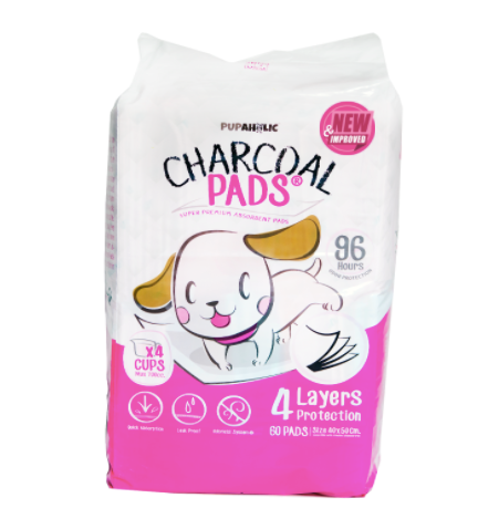 PREORDER: 1 Bag Pupaholic Ph NEW and IMPROVED Charcoal Pads Medium 40cm x 50cm - Good for 4 months use