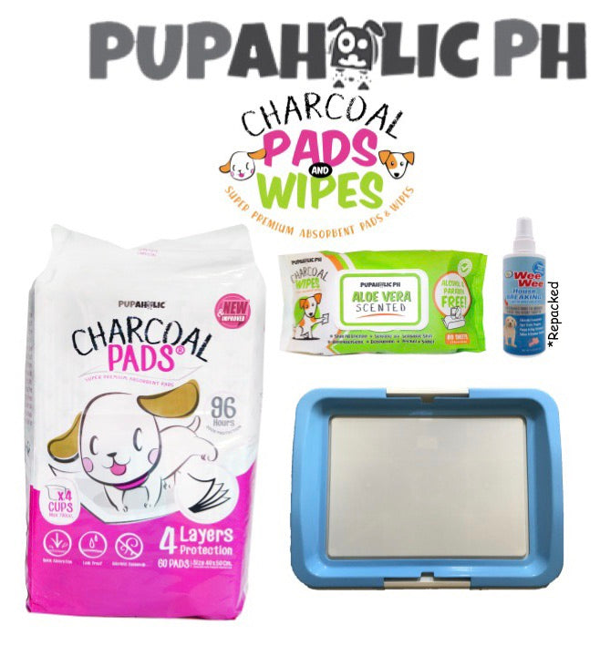 BUNDLE PROMO: Medium Pads + Pink Holder + Wipes