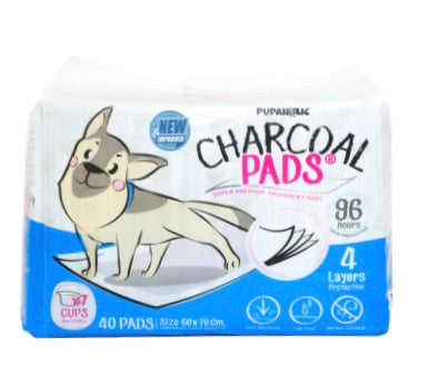 1 Bag of Pupaholic PH NEW AND IMPROVED Charcoal Pads 60cm x 70cm - Good for 2-3 months use