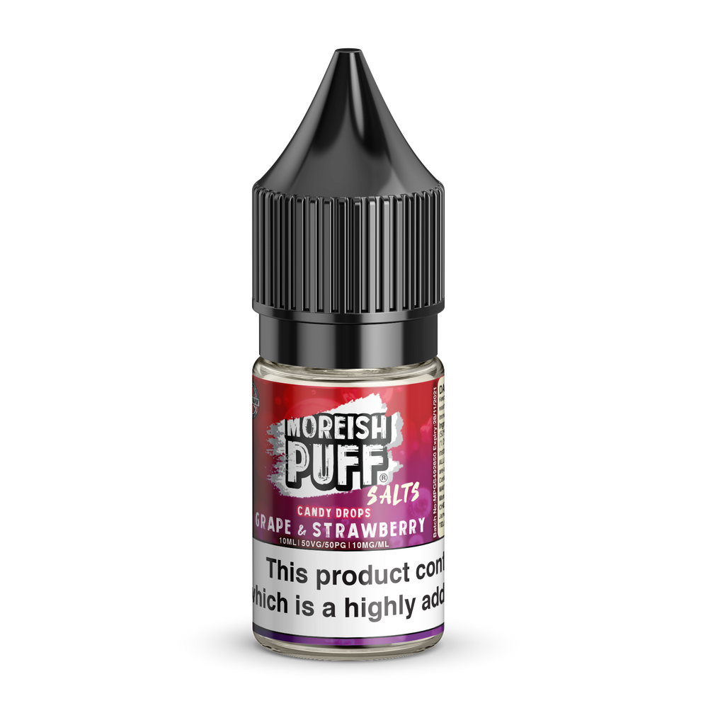 Moreish Puff Nic Salt - Candy Drops - Grape & Strawberry