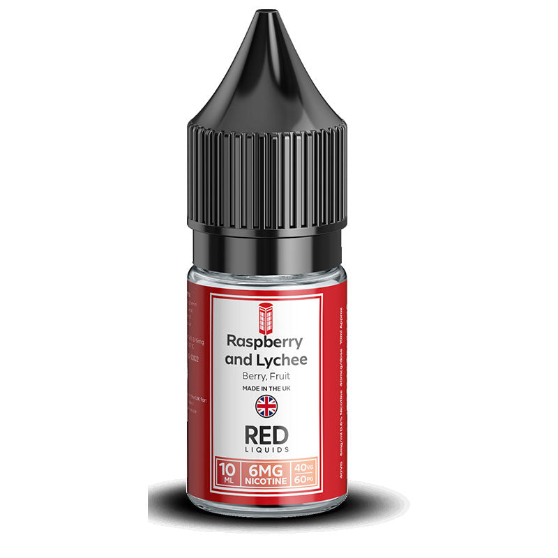 RED Liquids 40/60 - Raspberry and Lychee