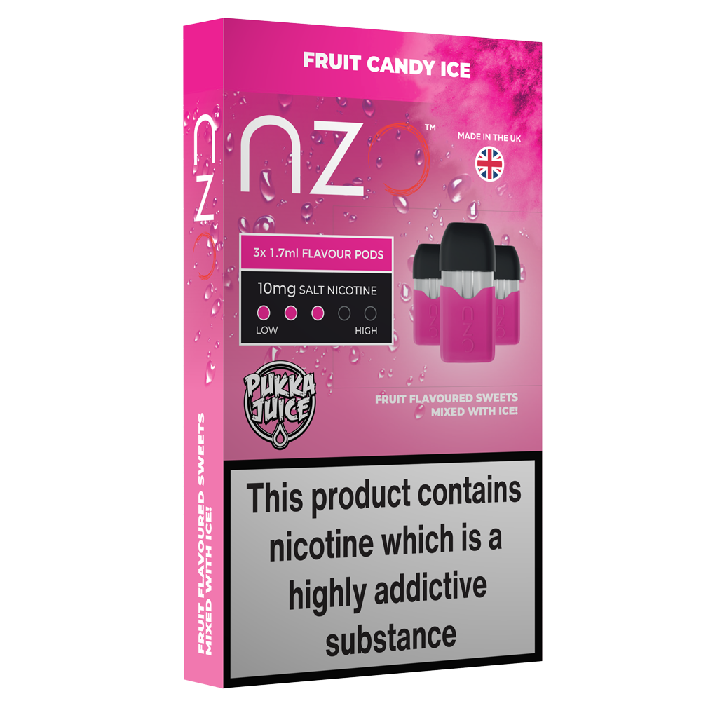 nzo Vape pods  - Pukka Juice Fruit Candy Ice