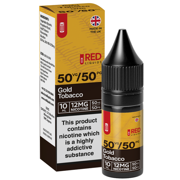 Red Liquids 10ml 12mg Red Tobacco 10ml - Gold