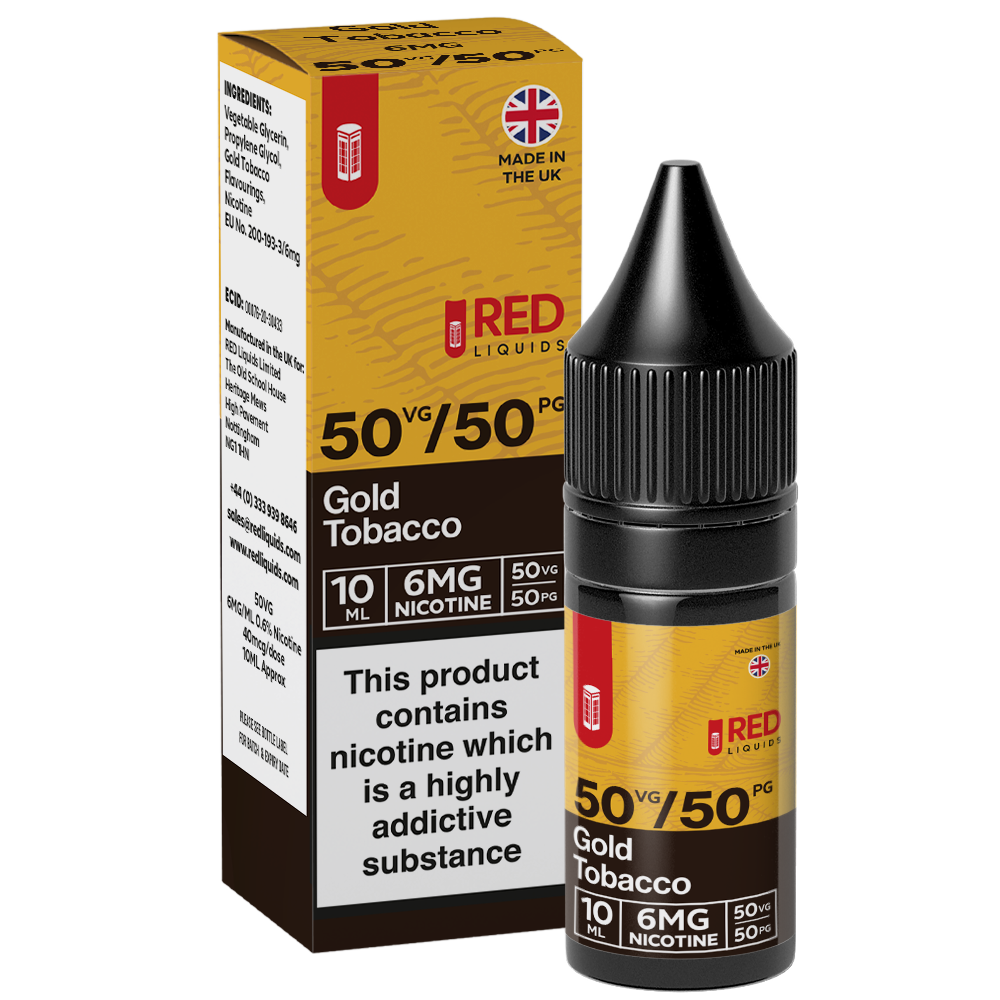 Red Liquids 10ml 6mg Red Tobacco 10ml - Gold