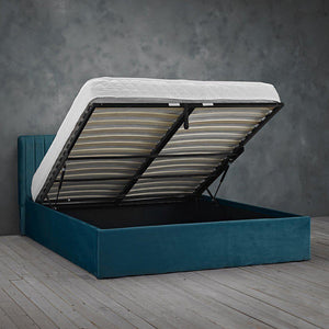 Cairo Ottoman Storage Bed - Teal - Springer Interiors