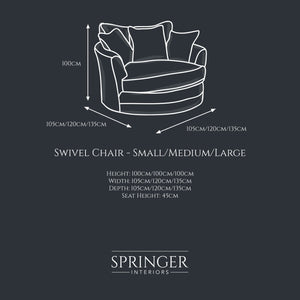 Cheshire Swivel Chair - Springer Interiors