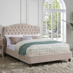 Naples Bed - Chenille Pink - Springer Interiors