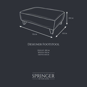 Oxford Designer Footstool - Springer Interiors
