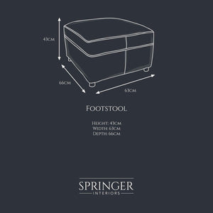 Oxford Footstool - Springer Interiors