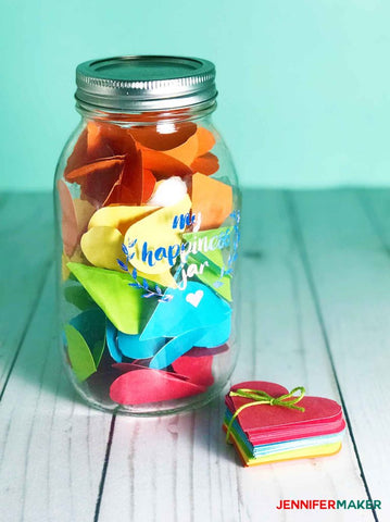 Valentinstag DIY Idee - Love and Happiness Jar
