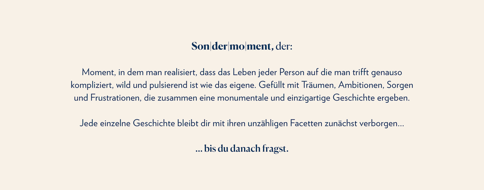 Sondermoment Definition German