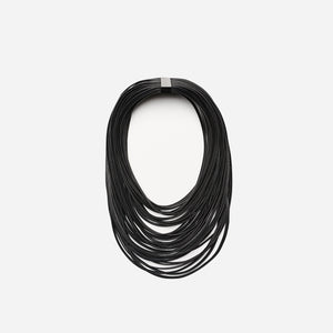 Multistrand necklace in leather - big