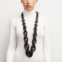 Load image into Gallery viewer, LONG BLACK CHAIN NECKLACE