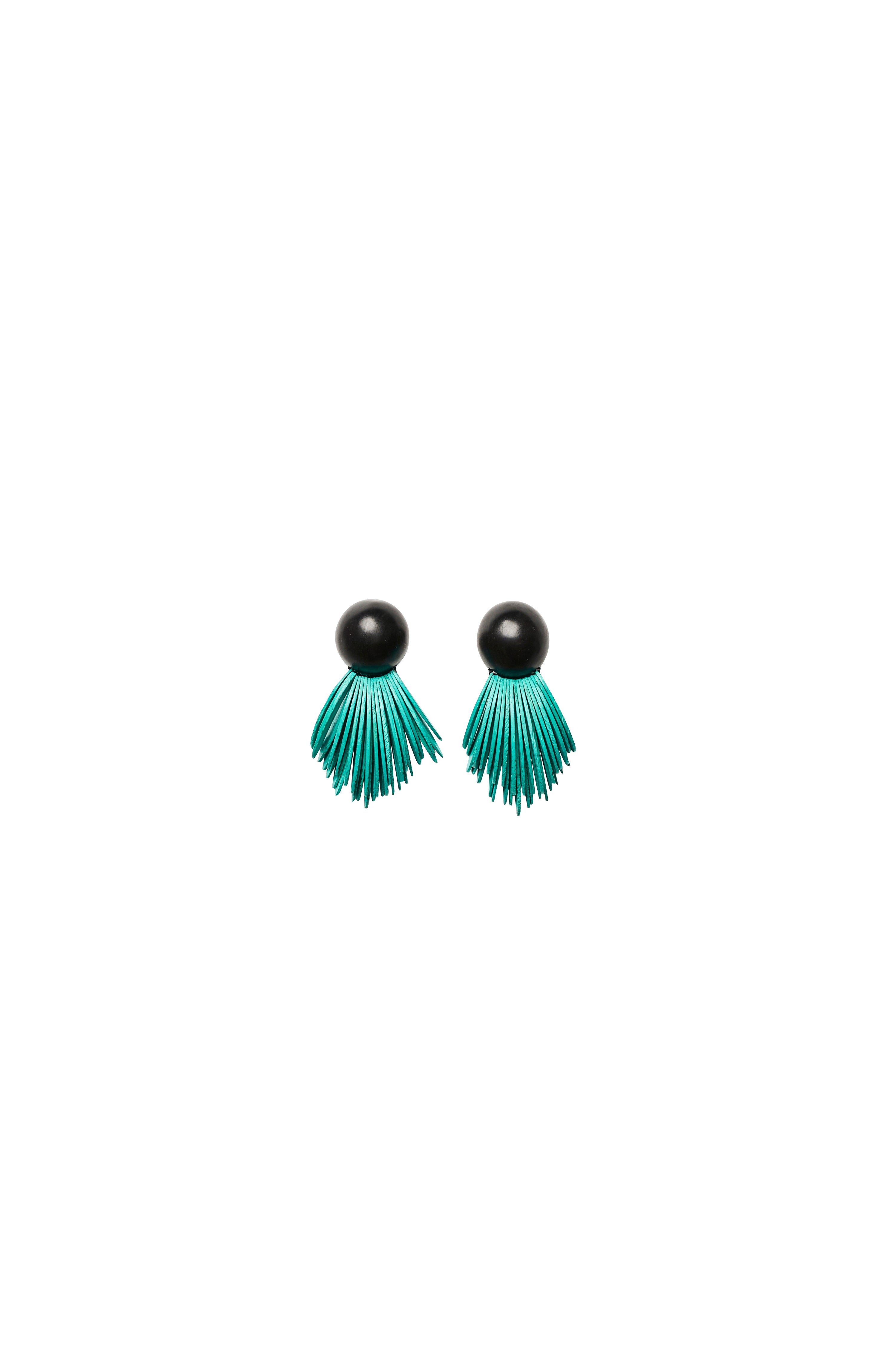 Earrings in turquoise acacia