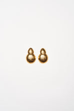 Load image into Gallery viewer, Earrings in polyester and gold foil