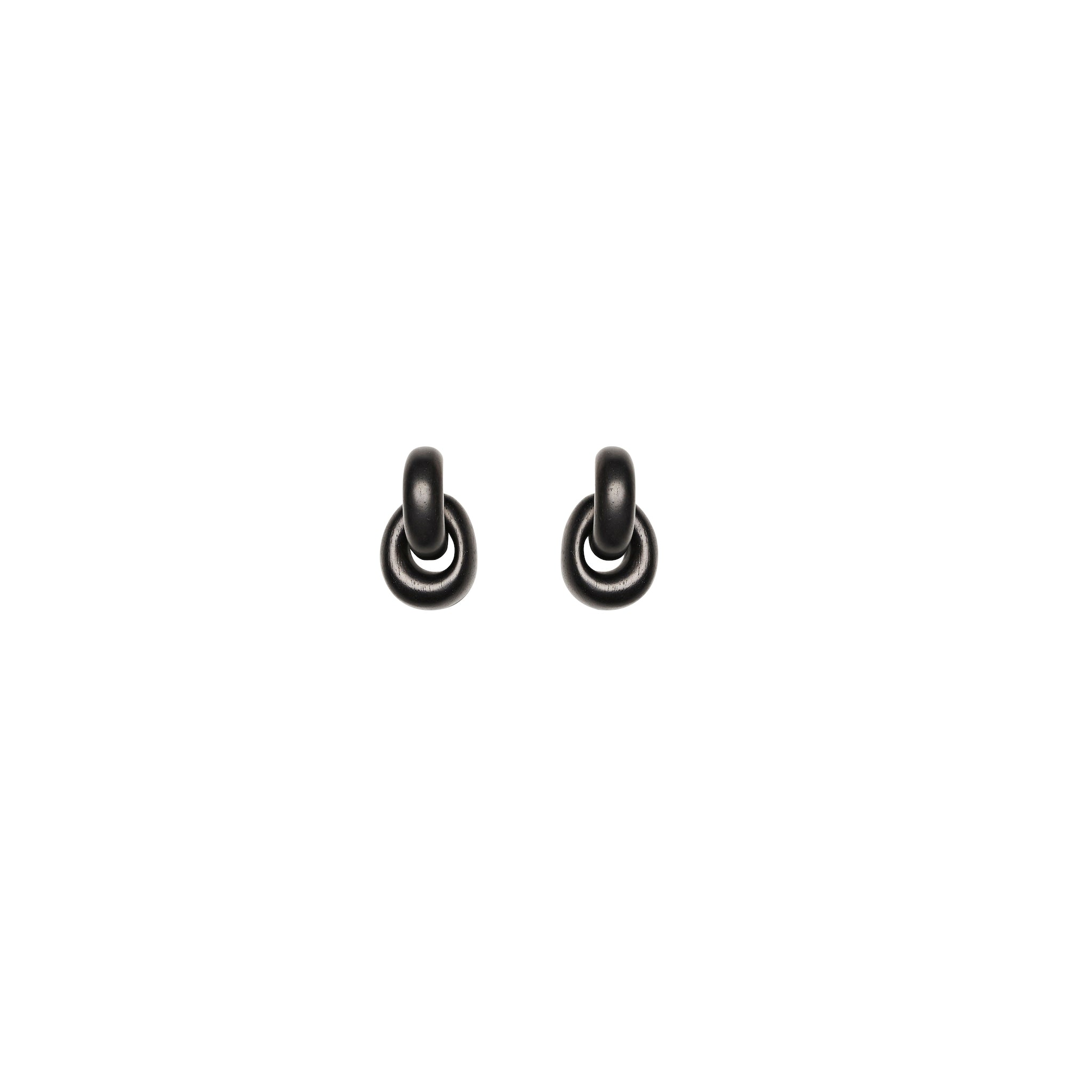 Monies Havana ebony chain earrings