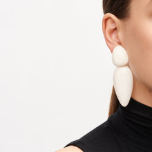 Load image into Gallery viewer, Earrings in white bone