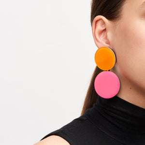 Earring in coloured polyester