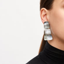 Load image into Gallery viewer, Earrings in grey lip