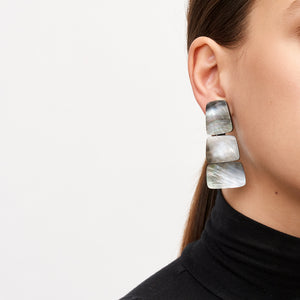 Earrings in grey lip