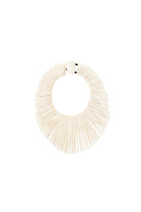 Collar necklace in white bone