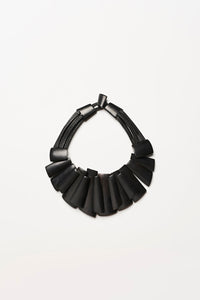 Necklace in black kamagong wood