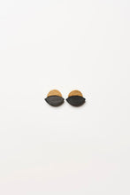 Load image into Gallery viewer, Earclips in acacia and gold foil