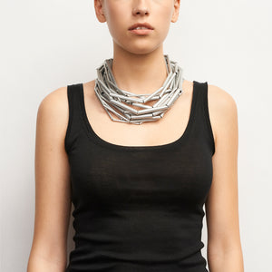 Bergen necklace in aluminum