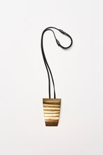 Load image into Gallery viewer, Pavia pendant in acacia, goldfoil and leather